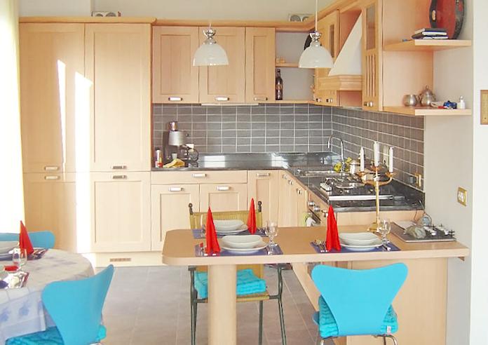 Keuken van appartement Delizia