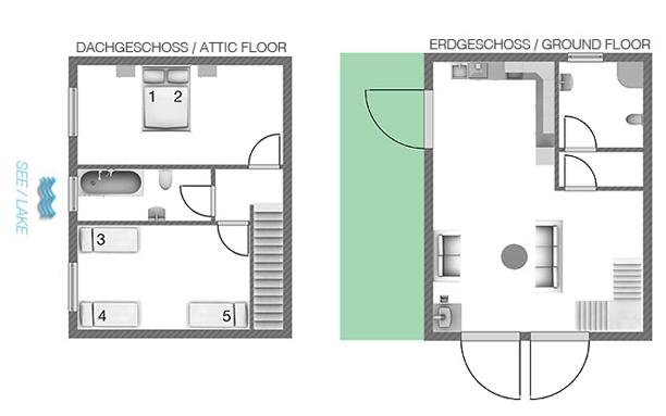 Plattegrond appartement Delizia