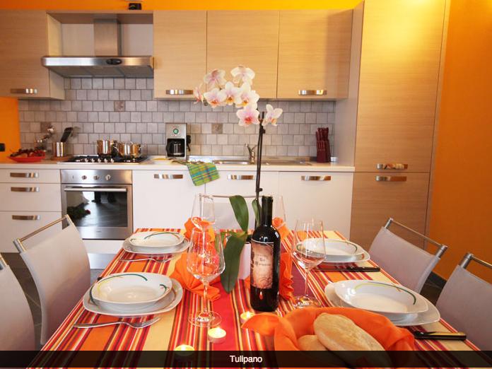 De keuken van appartement Tulipano