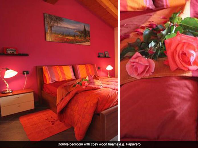 Slaapkamer van appartement Papavero