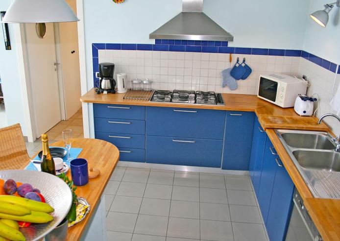 De keuken van Villa Darsene