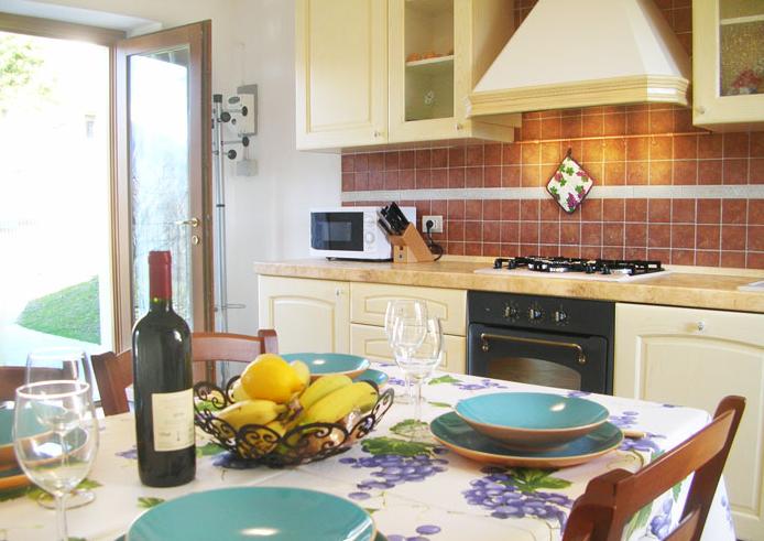 Keuken vakantiehuis Rustico Ronchi