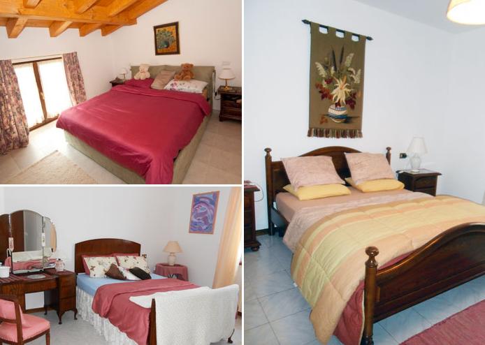 Slaapkamers villa Tschuetta