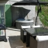 Terras met loungeset, jacuzzi, parasol en b.b.q.