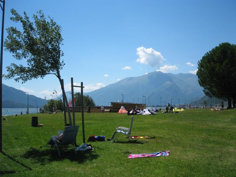 Wind- en kitesurfstrand Gera Lario