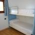 Slaapkamer met stapelbed in Varenna